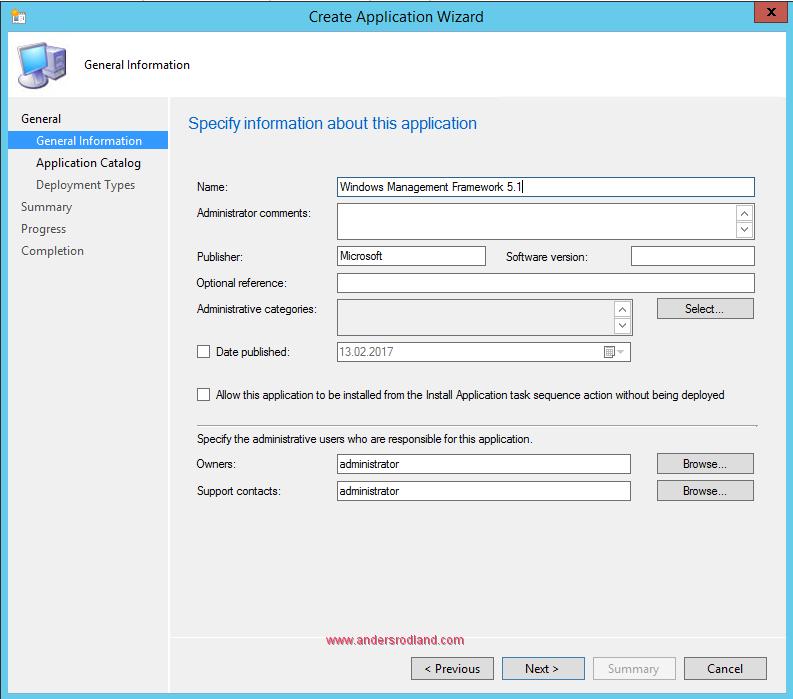 Deploy Windows Management Framework with SCCM - Step 2