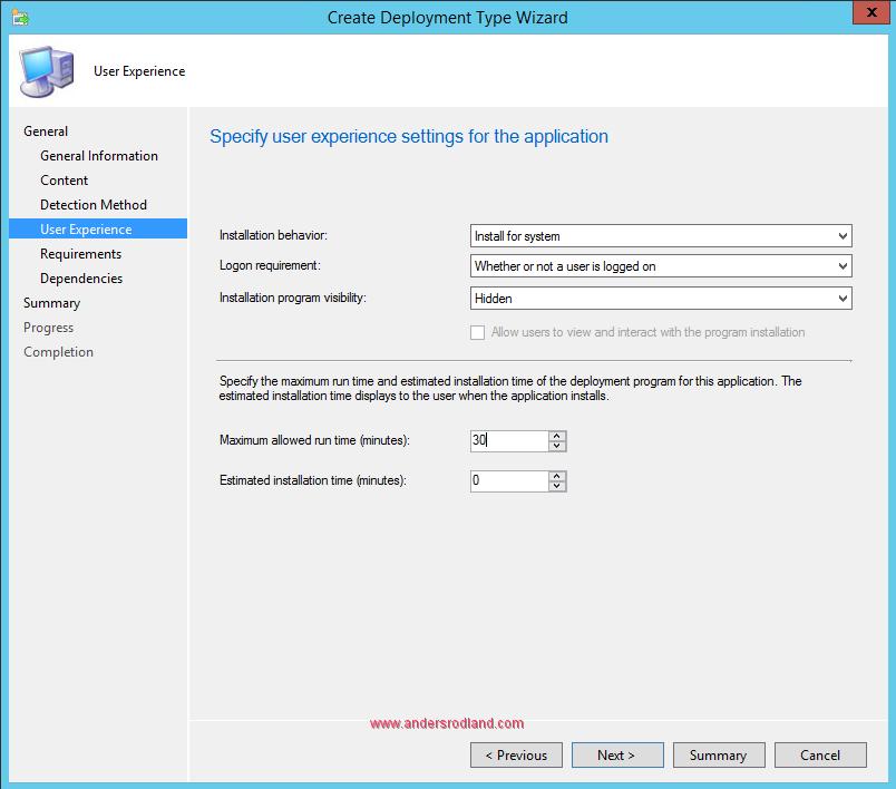 Deploy Windows Management Framework with SCCM - Step 8