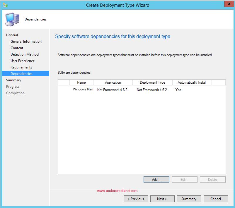 Deploy Windows Management Framework with SCCM - Step 9