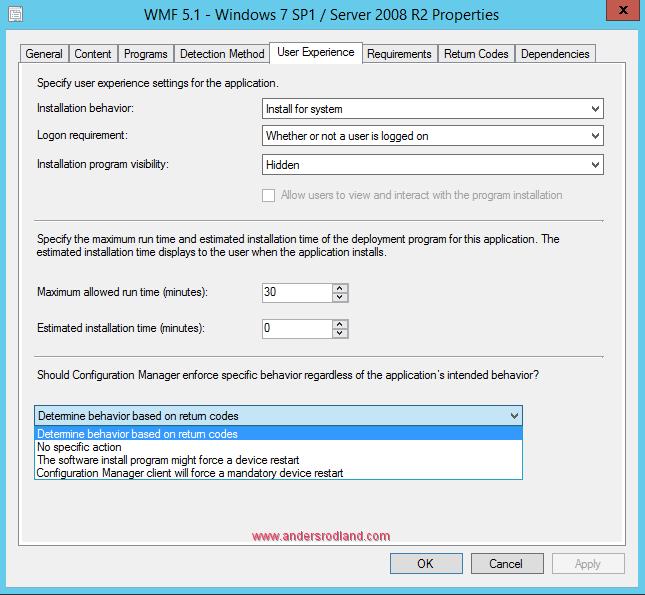Deploy Windows Management Framework with SCCM - Step 11
