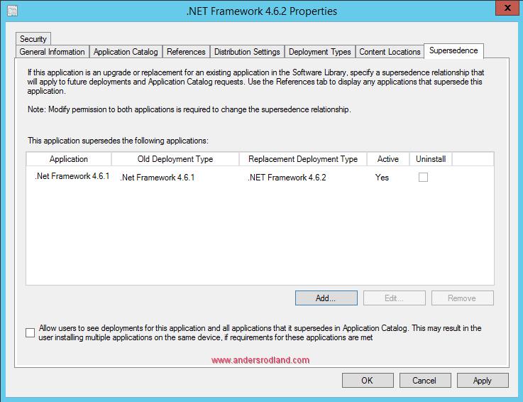 How to Deploy .NET Framework 4.6.2 with SCCM 11