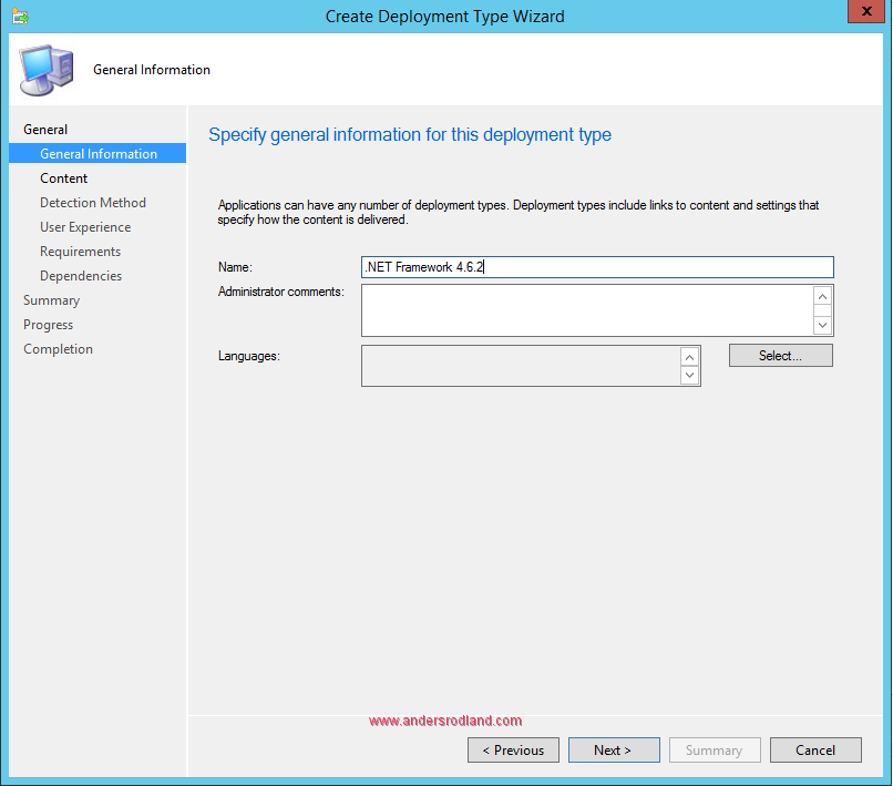 How to Deploy .NET Framework 4.6.2 with SCCM 4