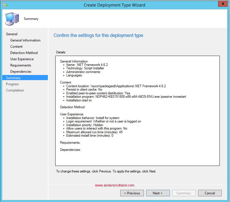 How to Deploy .NET Framework 4.6.2 with SCCM 10