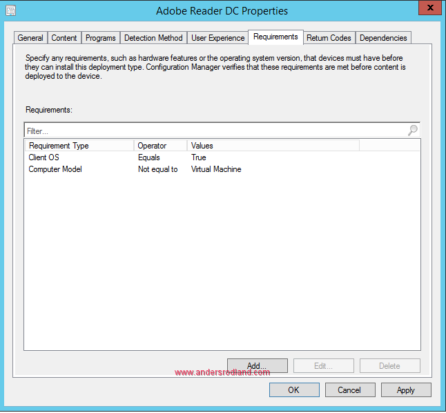 global condition in sccm - wmi computer model 3