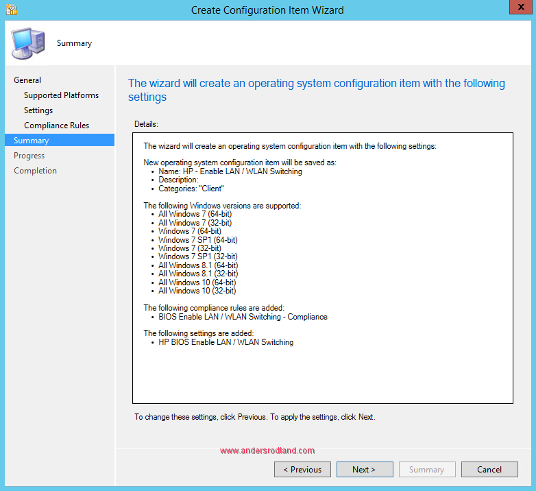 Manage BIOS Settings with SCCM Compliance Settings -8