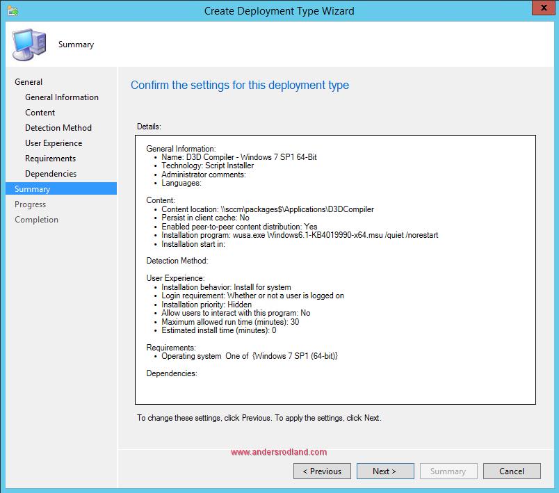 How to Deploy .NET Framework 4.7 With SCCM 10
