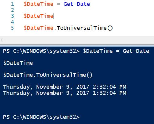 PowerShell Convert to UTC